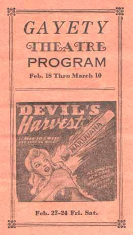 Circa 1942 program image courtesy of the Chicago's Extinct Businesses Facebook page.