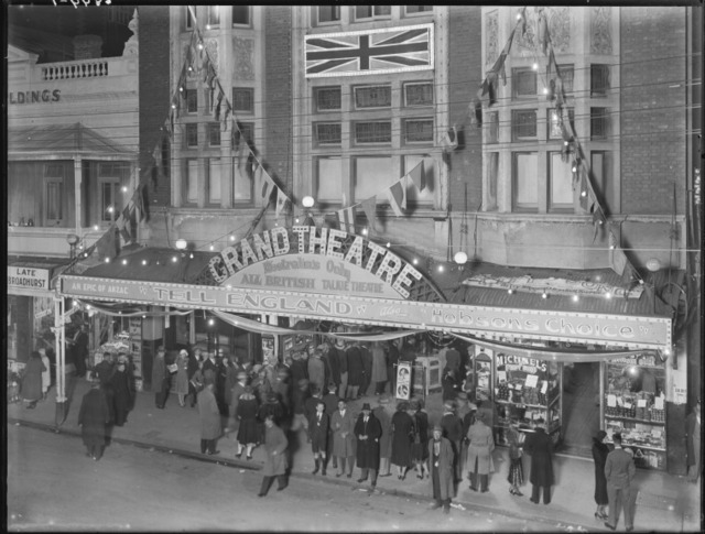 Grand Theatre exterior with audience entering