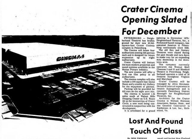 Crater Cinemas Under Construction