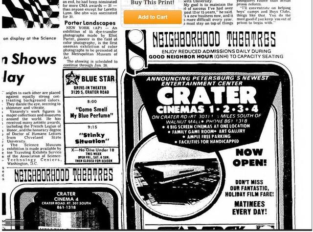 December 1979 Crater Cinema Opens!