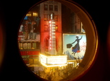 <p>View of the New Amsterdam from balcony stairway porthole inside the New Victory Theatre across the street.</p>