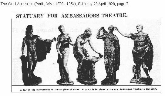 Ambassadors Theatre statues