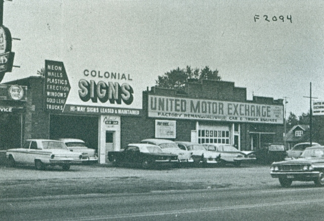 1965 real estate card photo of the Laurel Theater Building