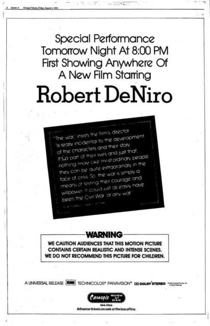 August 4, 1978 ad and description courtesy of Tim O'Neill.