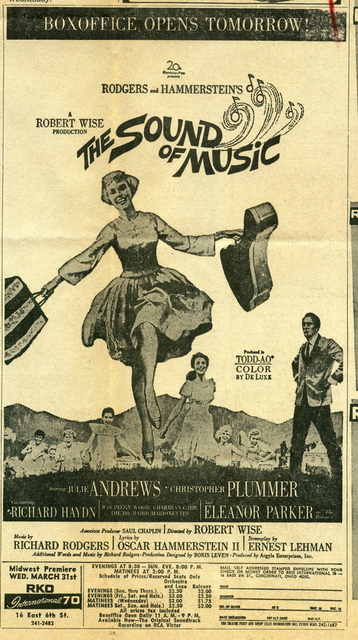 THE SOUND OF MUSIC at RKO International 70
