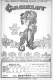 Camelot reserved seat ad for the United Artists Theatre