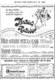Detroit Free Press ad for Finian's Rainbow