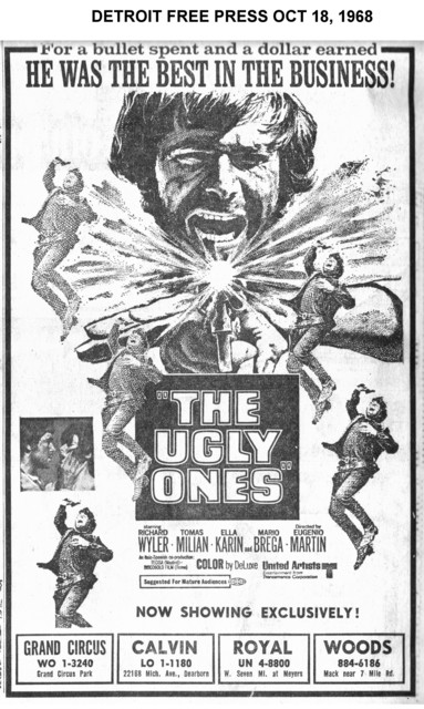 Movie ad from the Detroit Free Press