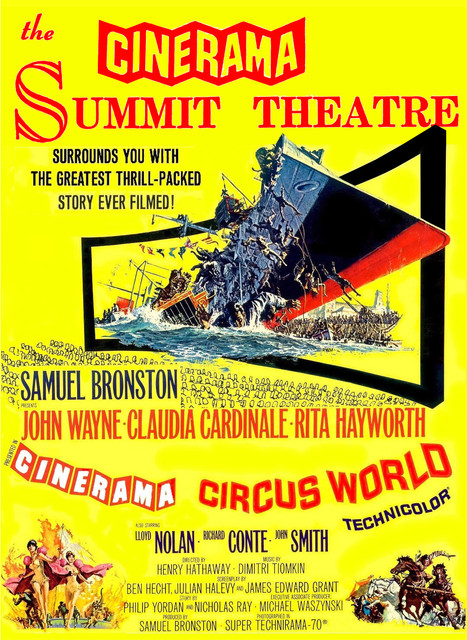 Hand out ad for upcoming Circus World at the Summit Cinerama