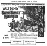 DETROIT FREE PRESS AD FOR SWISS FAMILY ROBINSON - MAIN THEATRE