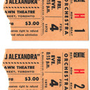 TICKET STUBS FOR NICHOLAS AND ALEXANDRA