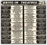Dallas Area Drive-In Theater Movie Calendar