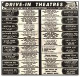 Dallas Area Drive-In Theater Movie Calendar