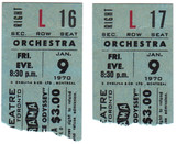 RESERVED SEAT TICKET STUBS FOR 2001 - GLENDALE CINERAMA