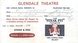 Reserved seat ticket enevelope for 2001 - Glendale Cinerama