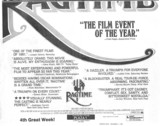 Toronto Star ad for RAGTIME at the Plaza