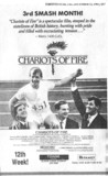 Toronto Star ad for Chariots of Fire - Towne Cinema
