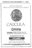 TORONTO STAR AD FOR CALIGULA - HYLAND I