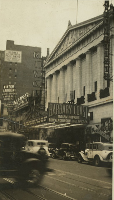 "Rivoli Theatre ""Barbary Coast"" engagement"
