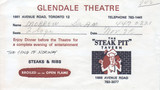 TICKET ENVELOPE FOR SONG OF NORWAY - GLENDALE