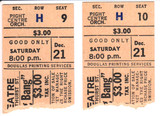 """RESERVED SEAT TICKET STUBS FOR """"CHITTY CHITTY BANG BANG"""" - NORTOWN THEATRE"""