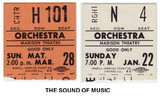 "RESERVED SEAT TICKET STUBS ""THE SOUND OF MUSIC"" - MADISON"