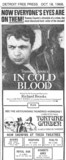 "Detroit Free Press ad for ""IN COLD BLOOD"" at the WYANDOTTE ANNEX & other theatres"
