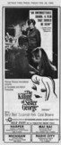 DETROIT FREE PRESS ad for 'THE KILLING OF SISTER GEORGE' at the RADIO CITY & other theatreser th