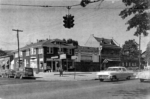 Circa 1955 photo of the Shawnee Theatre.