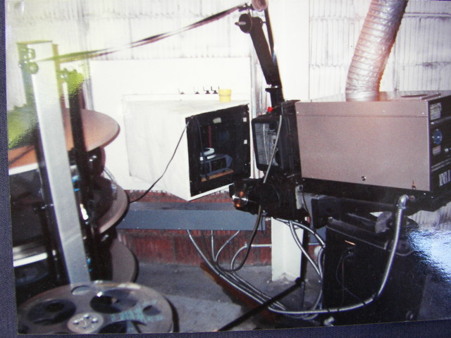 Center Mayfield Projection booth ( Armester Williams )