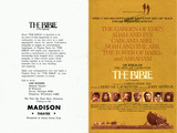 "ADVERTISEMENT HANDOUT FOR ""THE BIBLE"" COMING TO THE MADISON THEATRE"