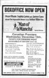 "TORONTO STAR AD FOR ""MAN OF LA MANCHA"" - UNIVERSITY THEATRE"