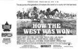 """TORONTO STAR AD FOR """"HOW THE WEST WAS WON"""" - UNIVERSITY THEATRE"""