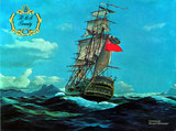 SOUVENIR PROGRAM PAINTING OF HMS BOUNTY