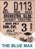 "RESERVED SEAT TICKET STUB ""THE BLUE MAX"" SUMMIT THEATRE"