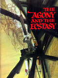 "SOUVENIR PROGRAM ""THE AGONY AND THE ECSTASY"" MUSIC HALL THEATRE"