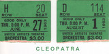 "RESERVED SEAT TICKET STUBS ""CLEOPATRA"" UNITED ARTISTS THEATRE"