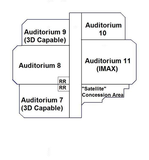 Layout of 1999 Addition (Auditoriums 7 thru 11)