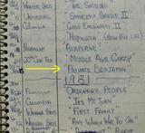 Projectionist's  Logbook