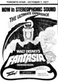 "TORONTO STAR AD FOR ""FANTASIA"" UPTOWN THEATRE"