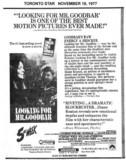 "TORONTO STAR AD ""LOOKING FOR MR. GOODBAR"""