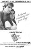 "TORONTO STAR AD ""LOVE STORY"" HOLLYWOOD THEATRE"