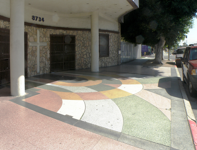 Nice Terrazzo at the former Mayfair Theater