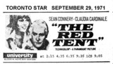 "TORONTO STAR AD ""THE RED TENT"" - UNIVERSITY THEATRE"