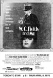"TORONTO STAR AD ""W.C.FIELDS AND ME"" - UNIVERSITY THEATRE"