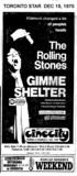 "TORONTO STAR AD ""GIMME SHELTER"" - CINECITY"