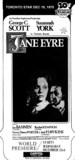 "TORONTO STAR AD FOR ""JANE EYRE"" - CAPITOL THEATRE"