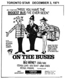 "TORONTO STAR AD FOR ""ON THE BUSES"" - CAPITOL THEATRE"