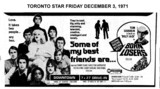 "TORONTO STAR AD FOR ""SOME OF MY BEST FRIENDS ARE"" - DOWNTOWN THEATRE"