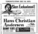 "TORONTO STAR AD ""HANS CHRISTIAN ANDERSEN"" AT THE TD CINEMA"